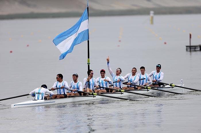 Lima 2019: oro para Agustín Scenna en 8 remos con timonel