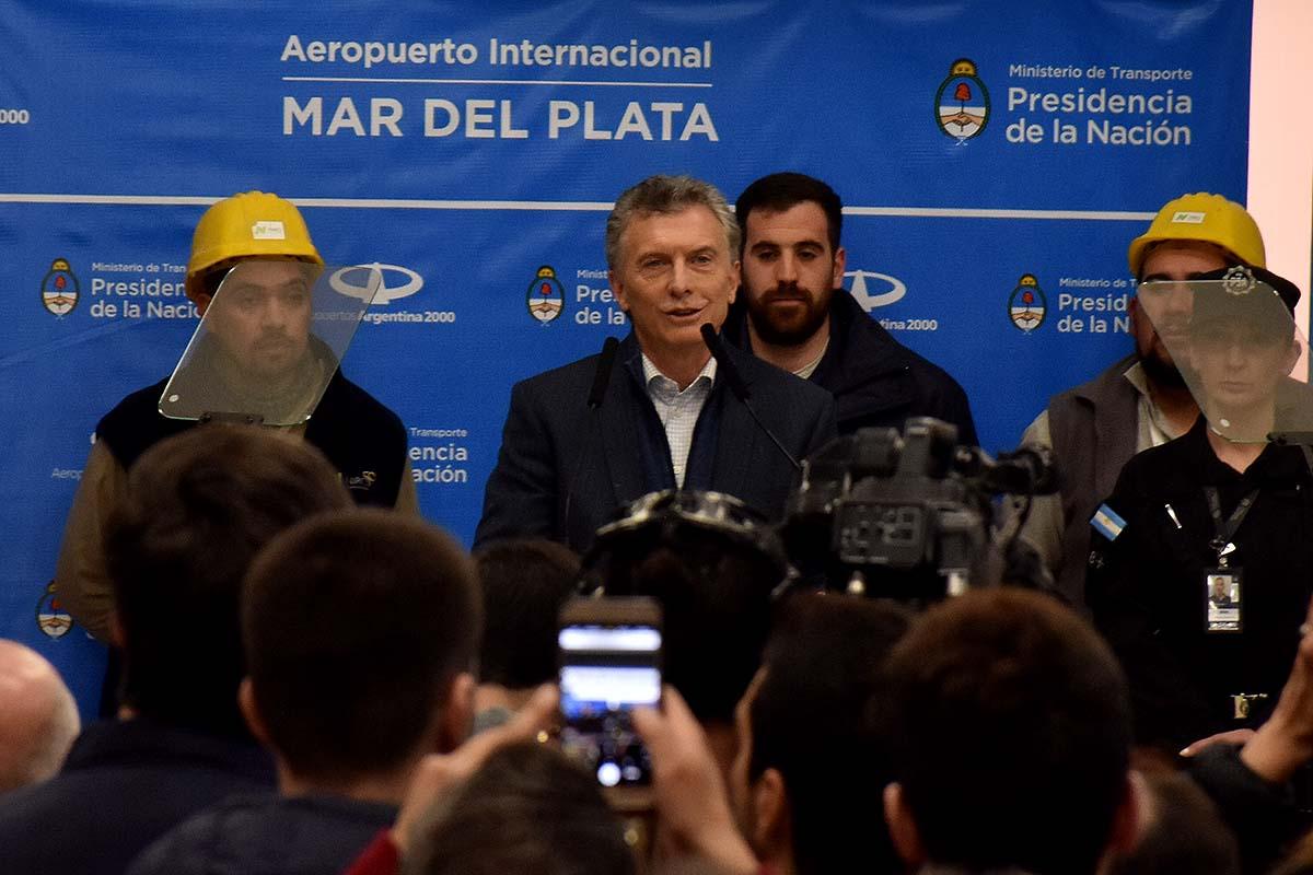 """Macri en Mar del Plata: """"Me estoy ocupando de llevar alivio"""""""