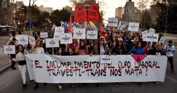 """Marcha a cuatro años de la ley Diana Sacayán: """"El incumplimiento nos mata"""""""