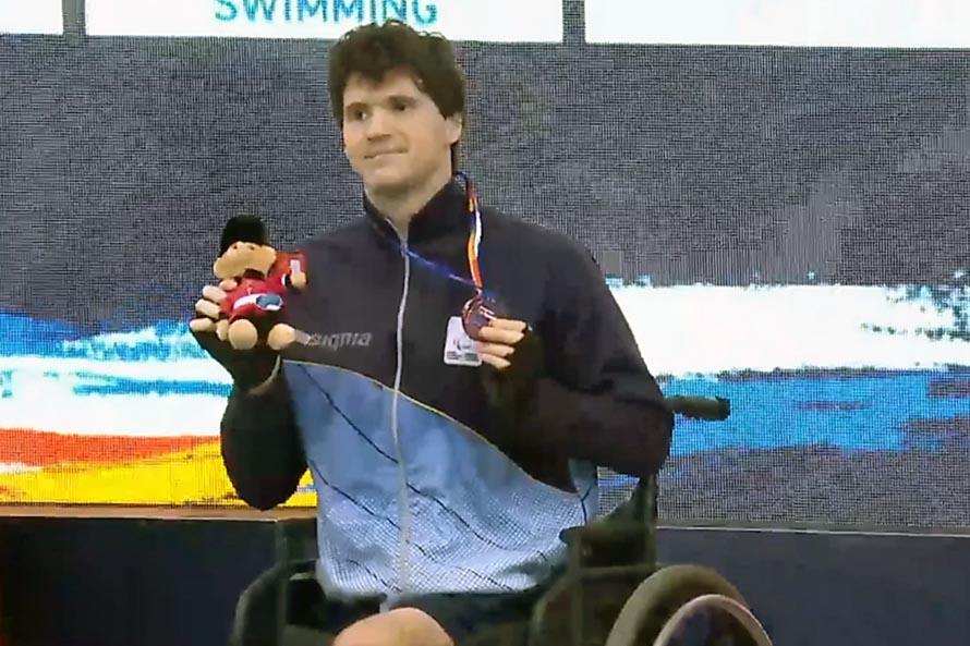 Matías De Andrade, medalla de bronce en el Mundial de Paranatación