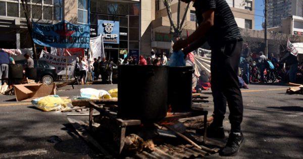 Una nueva jornada de protesta de organizaciones sociales en las calles