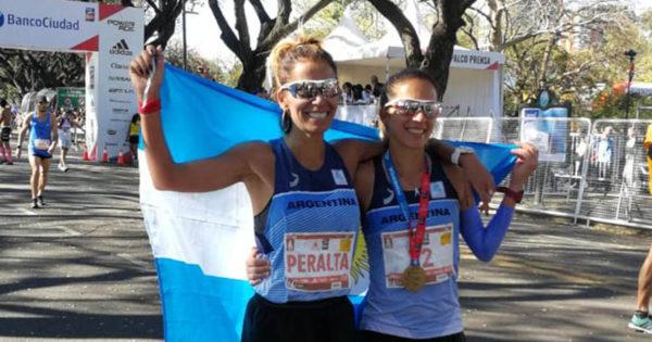 Marita Peralta completó la maratón de Buenos Aires