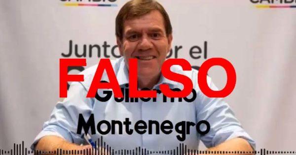 No, no es Montenegro el del audio que se hizo viral