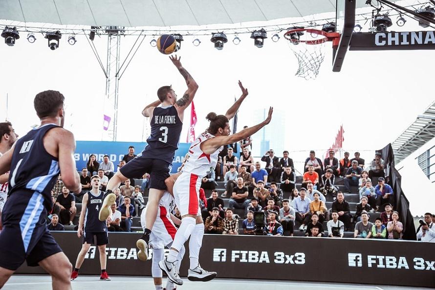 Juan Esteban De La Fuente, en el Mundial Sub 23 de básquet 3×3