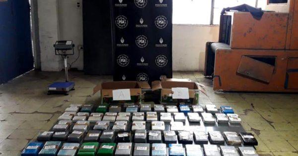 Cae banda narco y secuestran 115 kilos de cocaína: 7 detenidos y 15 prófugos