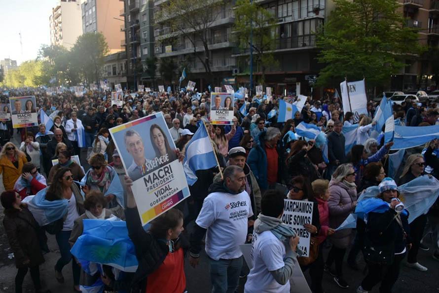 """La """"Marcha del millón"""" en apoyo a Macri tuvo su réplica en Mar del Plata"""