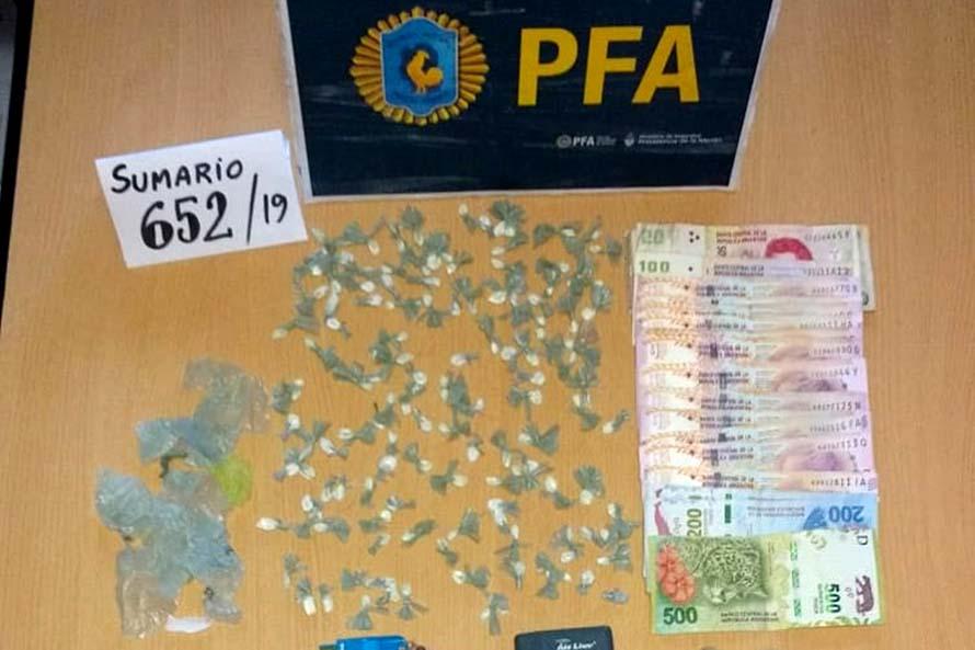 Detienen a una mujer que vendía cocaína en el barrio San Jorge