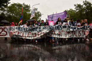 """Una """"caravana violeta"""" y un """"festival verde"""" en el día contra la violencia de género"""