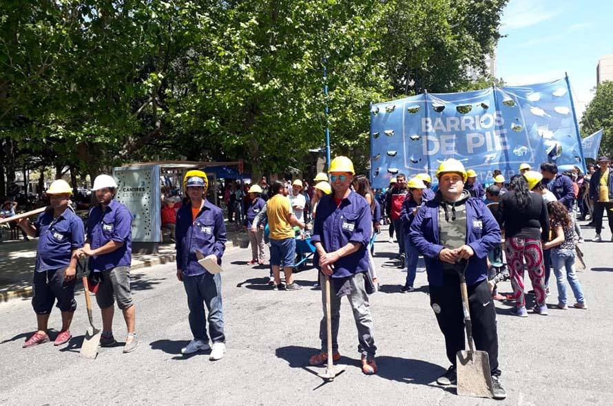 Una nueva jornada de protesta de organizaciones sociales en el centro