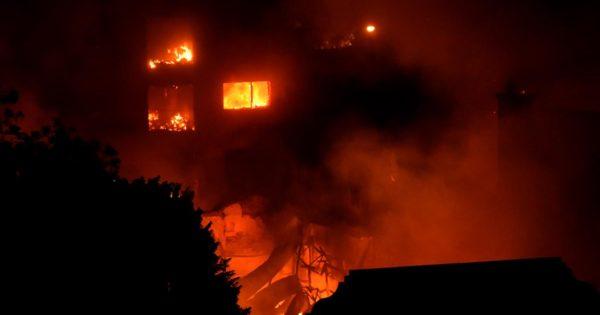 Incendio en Torres y Liva: las imágenes del desastre