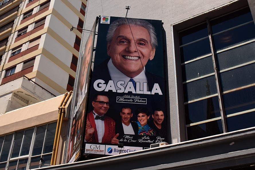 Por problemas de salud, Gasalla suspendió tres funciones