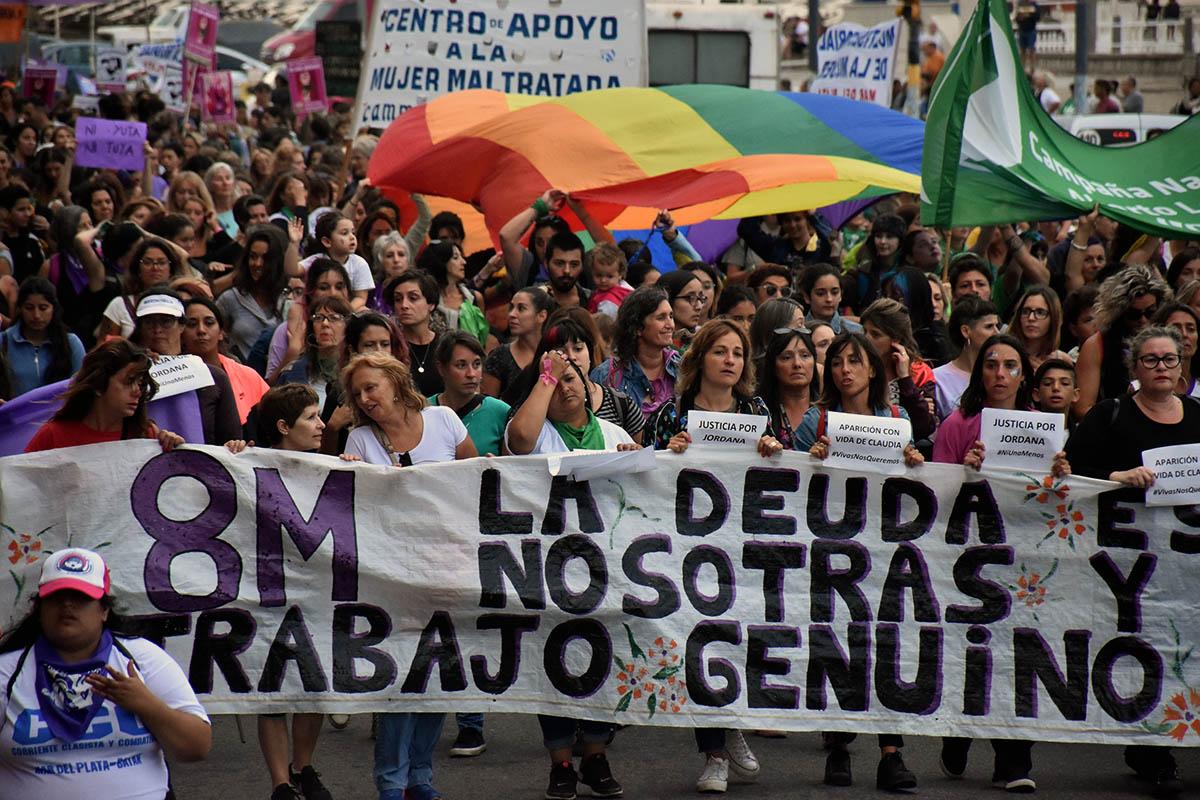 Tras la masiva marcha, quiénes se adhieren al Paro de Mujeres en Mar del Plata