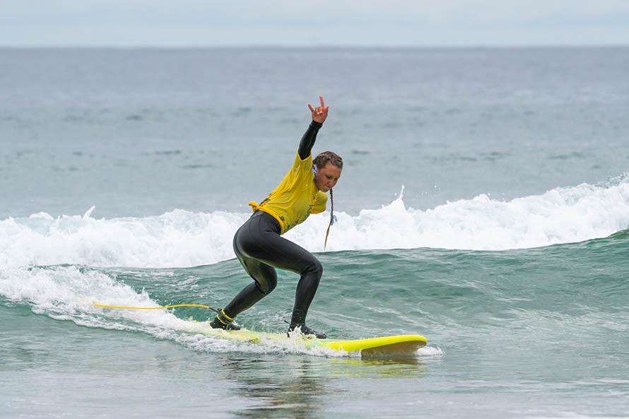Surf adaptado: Zoé Giannini se subió al podio en el Mundial de California