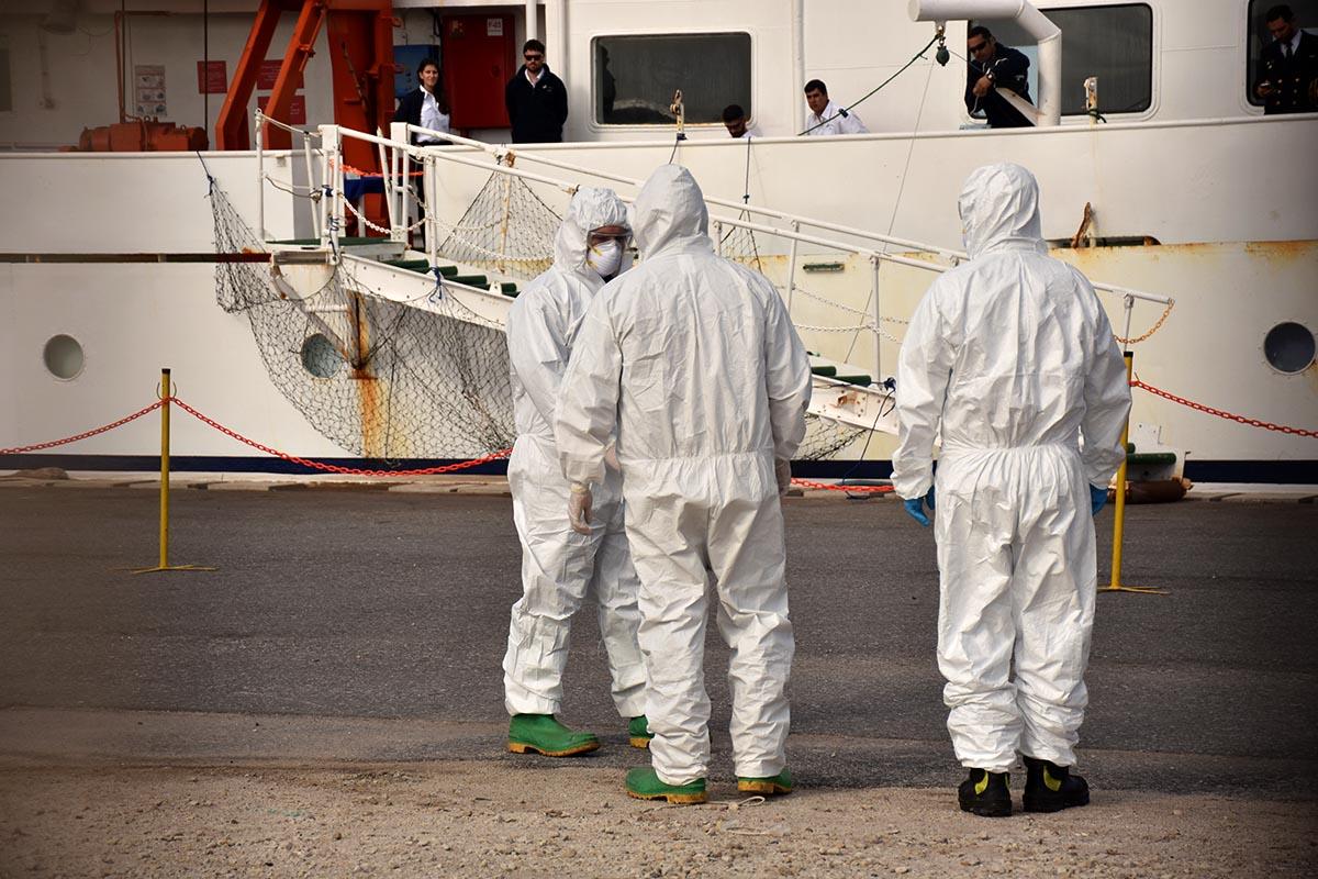 Coronavirus: tripulantes del MV Ushuaia, entre los 10 casos sospechosos de Mar del Plata