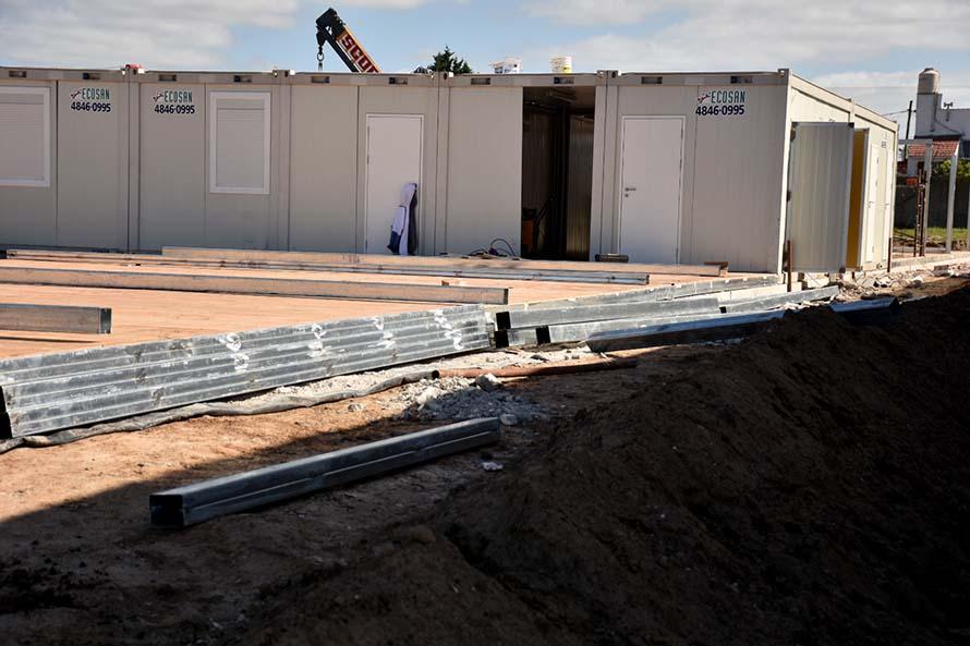 Hospital modular: terminaron la obra y el lunes empieza su equipamiento