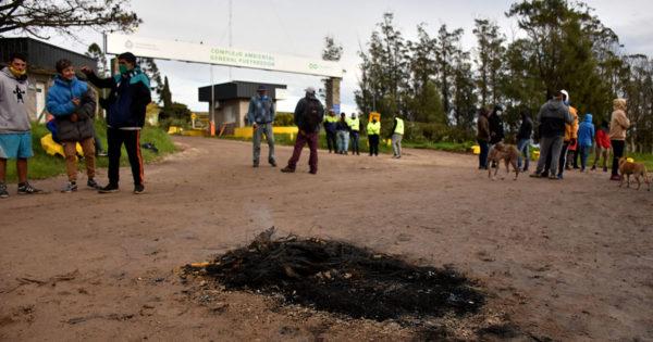 Luego de la reunión con el Municipio, recuperadores vuelven a cortar el ingreso al basural
