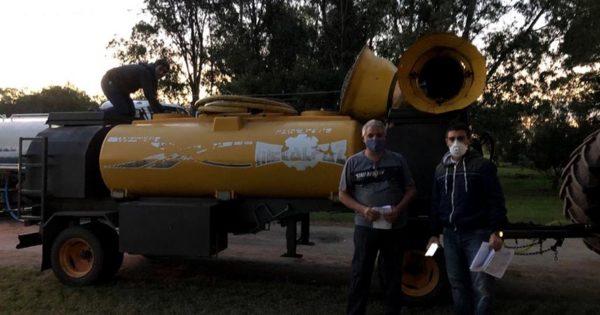 Un investigador marplatense participó del desarrollo de una máquina para desinfectar calles