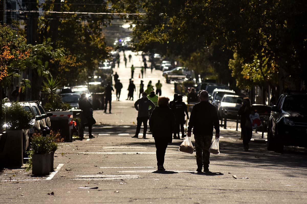 """""""Prueba piloto"""": corte de calles e importante despliegue en zonas comerciales"""