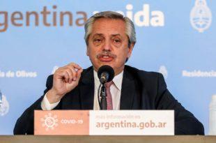 Alberto Fernández dio positivo en coronavirus