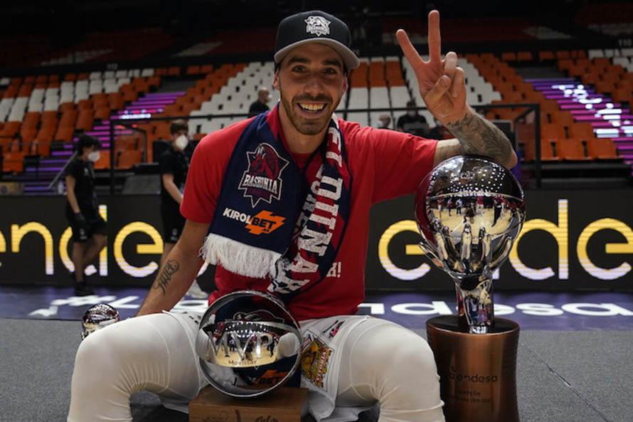 El Baskonia se consagró campeón de la Liga ACB gracias al tiro final de Luca Vildoza