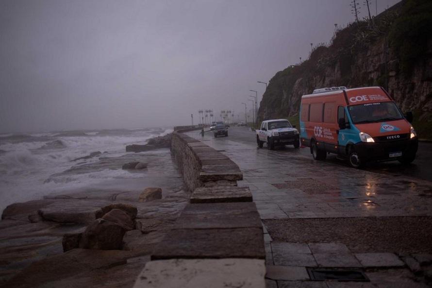 Sigue vigente el alerta meteorológico por lluvias y vientos intensos en Mar del Plata