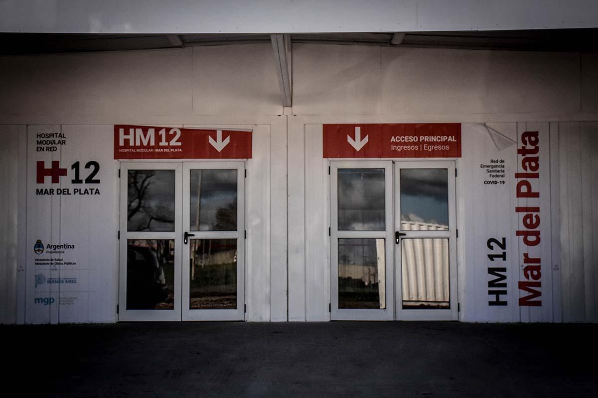 Ya funciona el hospital modular de Mar del Plata con once pacientes