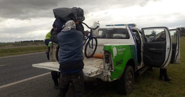 Viajó de Paraguay a Mar del Plata en bici: llegó hasta el retén y no lo dejaron entrar