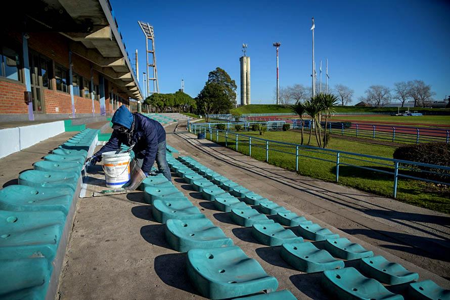 En medio de la cuarentena, realizaron refacciones en los escenarios deportivos municipales
