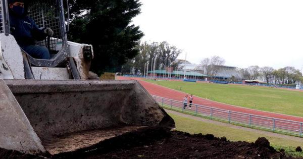 Pista de atletismo: realizan mejoras en el circuito de cross country