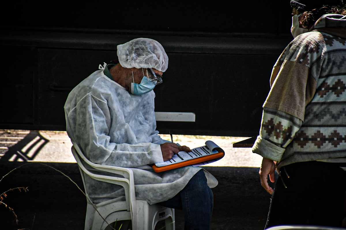 Coronavirus: el dispositivo de testeo, este martes en el barrio Bosque Grande