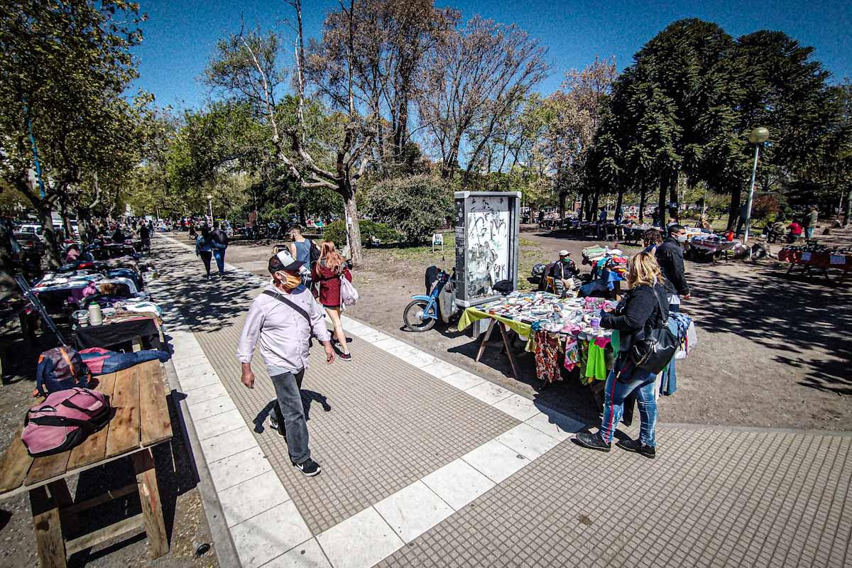 Plaza Rocha: en fase 3, feriantes volvieron a trabajar