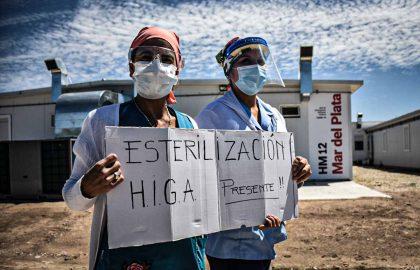 PROTESTA RECLAMO ENFERMERIA HIGA MODULAR CORPNAVIRUS PERSONAL DE SALID -94