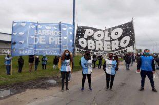 Dos protestas en Mar del Plata para repudiar el desalojo en Guernica
