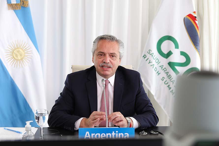 Alberto Fernández en el G20