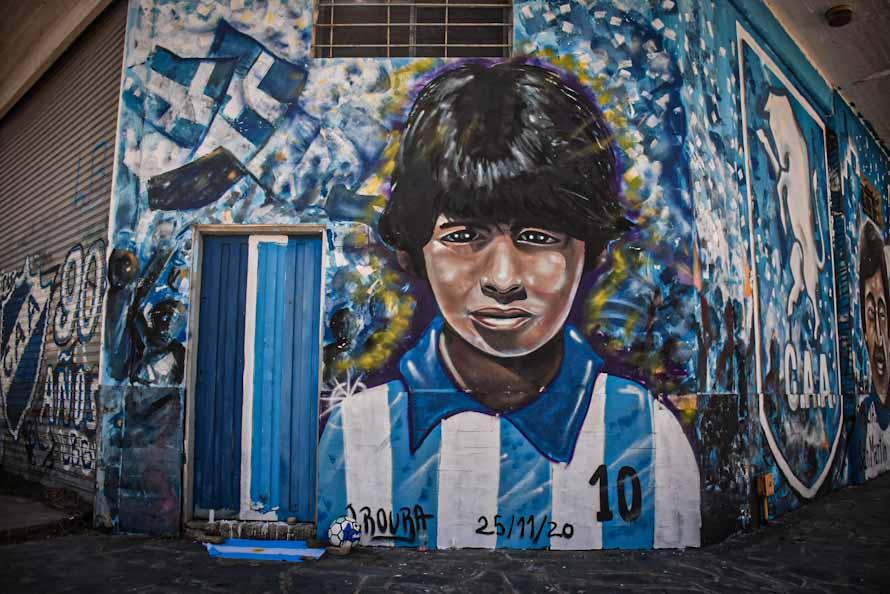 La imponente pintura en homenaje a Maradona en Mar del Plata