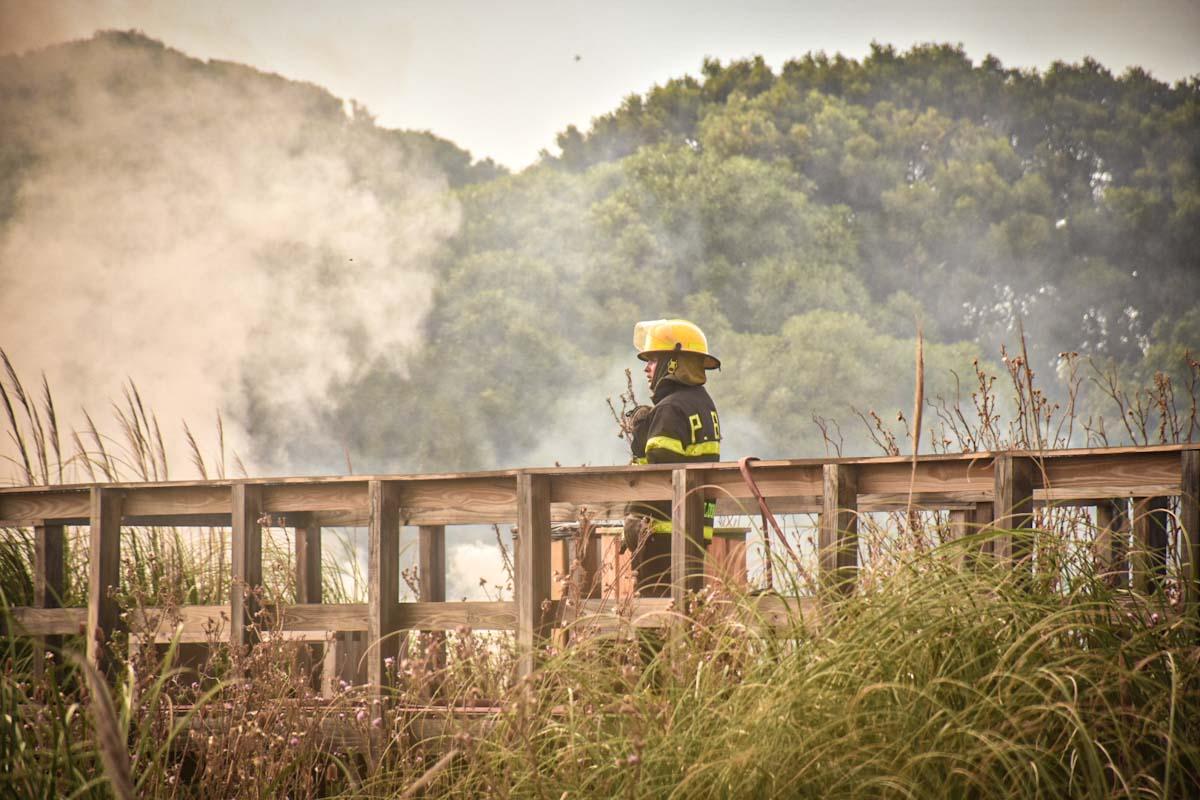 Emiten un nuevo alerta por riesgo de incendios en Mar del Plata