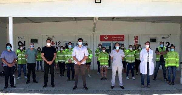 Coronavirus: llegó un nuevo grupo de médicos y enfermeros al Hospital Interzonal