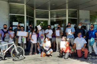 Clases presenciales en Mar del Plata: una protesta y reclamos al Consejo Escolar