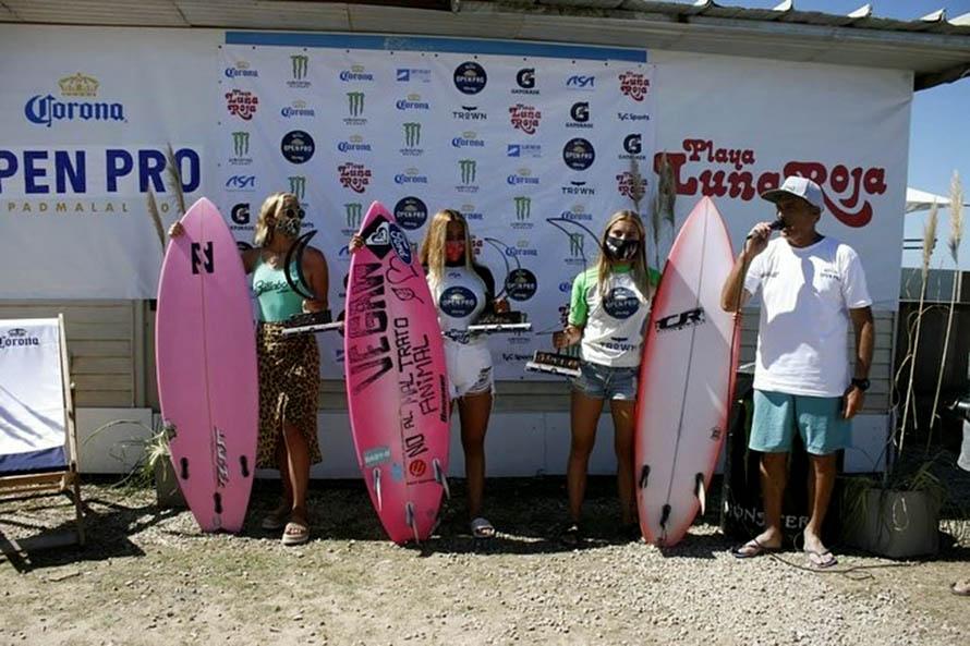 Surf: Catalina Merceré y Franco Radziunas, campeones de la primera fecha del Tour