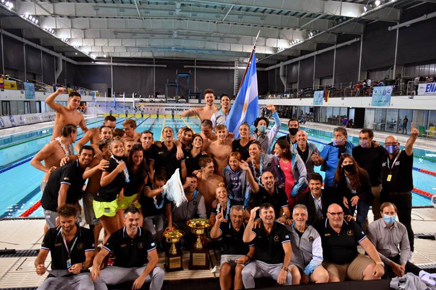 Natación: con destacada presencia marplatense, Argentina gritó campeón en el Sudamericano