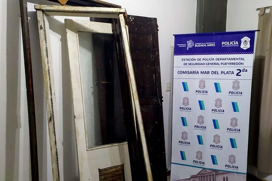 Encontraron en la casa de un policía aberturas robadas de una ex sede judicial