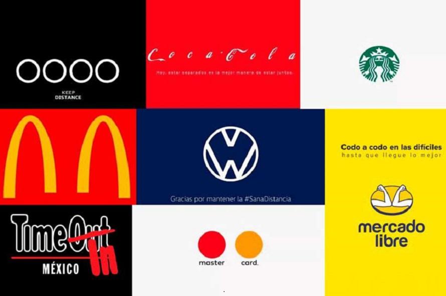 Marcas que con sus logos se hicieron eco de la pandemia