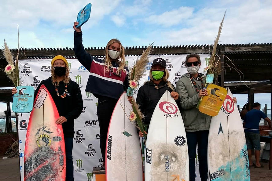 Surf: Merceré y Usuna, campeones de la segunda fecha del Tour Argentino