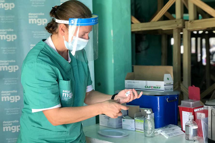 Coronavirus: 40 casos positivos en la jornada de detección del barrio San Martín