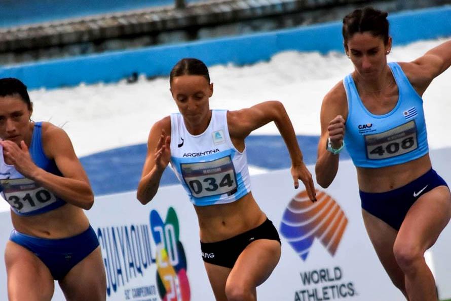 Mariana Borelli en los 1.500 metros del Sudamericano de Atletismo (Foto: Sebastián Lasquera / prensa Cada)