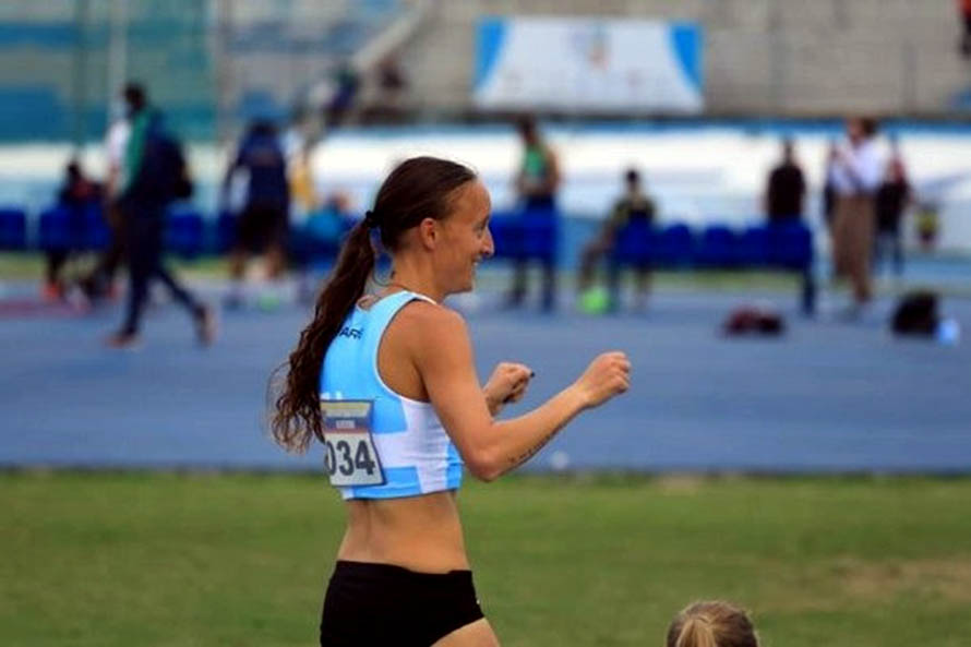 Mariana Borelli en el Sudamericano de Atletismo (Foto: Sebastián Lasquera / prensa Cada)