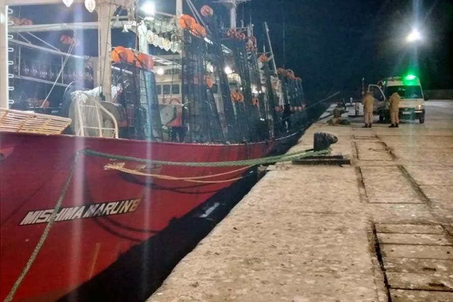 Coronavirus: el buque Mishima Maru 8 amarró en el puerto de Comodoro Rivadavia