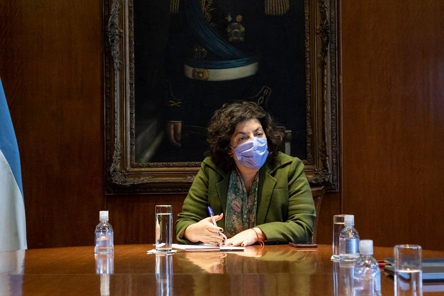 Vizzotti anunció que este mes llegarán al país 4 millones de dosis de AstraZeneca