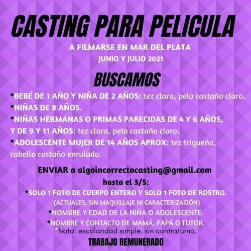 Casting en Mar del Plata