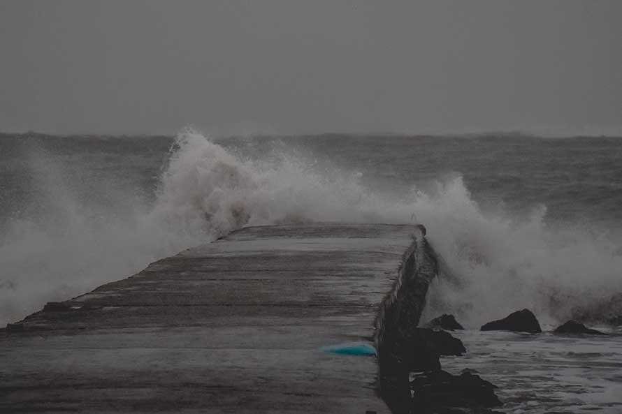 Jueves con alerta meteorológico por fuerte viento en Mar del Plata